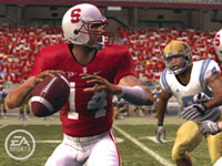 Pass rushing in 'NCAA Football 10'