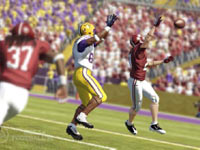 Jockeying for a ball dumped into the secondary in NCAA Footbal 12