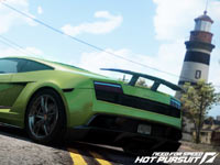 Green Lamborghini from Need For Speed: Hot Pursuit