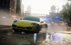 The police in hot pursuit in Need for Speed: Most Wanted