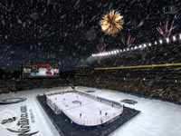 Outdoor play in the NHL Winter Classic in NHL 12