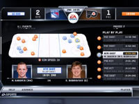 A player management screen from NHL 12's Be a GM mode