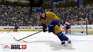 Sergei Kostitsyn playing for the Nashville Predators in NHL 13
