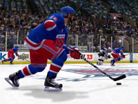 Moving the puck down the ice in NHL 13
