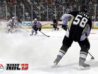 Playing defense as the Pittsburgh Penguins Kris Letang in NHL 13