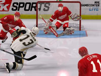 Multiplayer action in 'NHL 2K10'