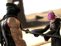 Ryu being presented a katana sword in Ninja Gaiden 3
