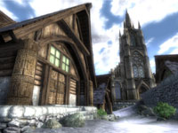 A town environment from The Elder Scrolls IV: Oblivion 5th Anniversary Edition