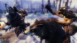 Brown Minions on wolf mounts in 'Overlord II'