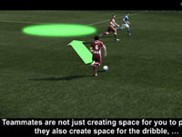 An example of improved AI from Pro Evolution Soccer 2012