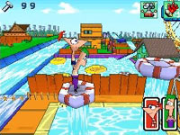 Building a water ride in Disney Phineas and Ferb