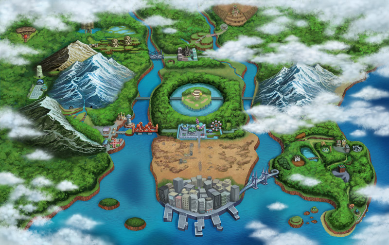 Explore the new Unova region filled with a mix of landscapes, features