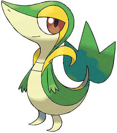 Starter Pokémon Snivy from Pokémon Black and Pokémon White