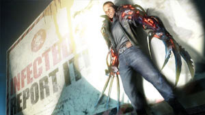 James Heller caught in a spotlight in Prototype 2 Blackwatch Collector's Edition