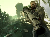 James Heller preparing to use a bazooka in Prototype 2 Blackwatch Collector's Edition