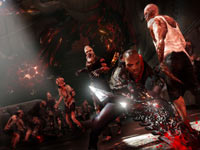 James Heller battling a swarm of normal-sized mutated enemies in Prototype 2 Blackwatch Collector's Edition