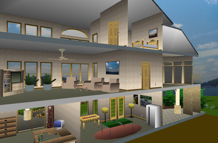 Home Design Pro Part - 19: Fly Through Your Design And See It From All Angles.