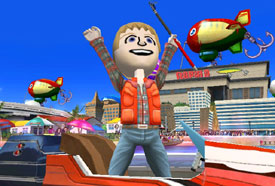 In-game Mii use in Rapala: We Fish