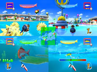 4-fisherman multiplayer split-screen support in Rapala: We Fish Rod Bundle
