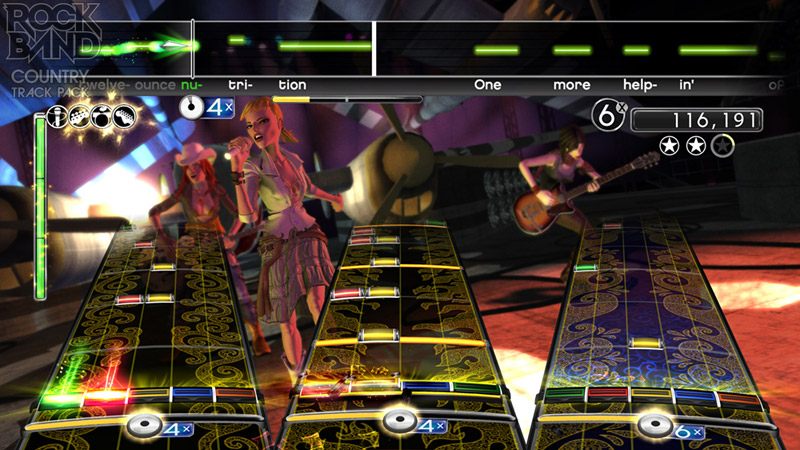 Multiplayer view in 'Rock Band Country Track Pack'