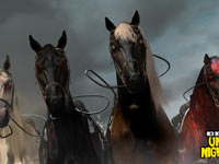 Mounts of the four horsemen of the apocalaypse available in Red Dead Redemption: Undead Nightmare