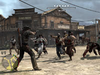 Multiplayer map screen from Red Dead Redemption: Undead Nightmare