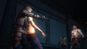 Using a zombie as a shield in Resident Evil: Operation Raccoon City