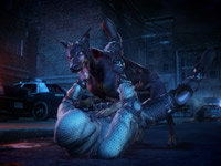 Fighting off a zombie dog in Resident Evil: Operation Raccoon City
