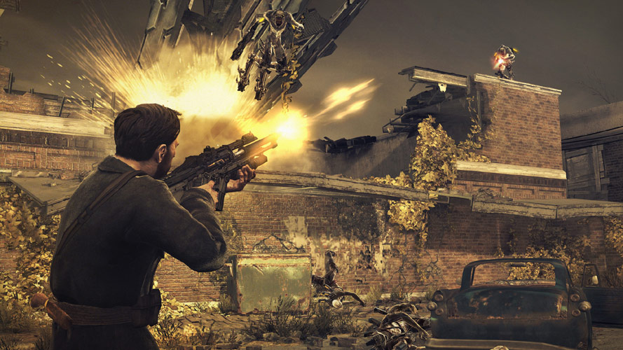 Capelli taking a shot at an enemy from long-range in Resistance 3