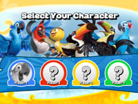 Character choice screen from Rio: The Video Game