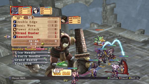 Party combat gameplay screen from Record of Agarest War Zero