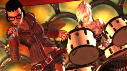 Multiplayer action in 'Rock Band Track Pack: Classic Rock