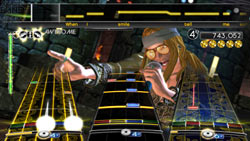 Axel Rose look-a-like in 'Rock Band Track Pack: Classic Rock'