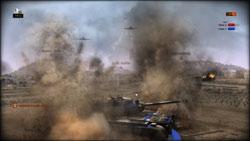 Air units firing on a tank in R.U.S.E.