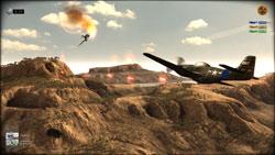 A dogfight in desert in R.U.S.E.
