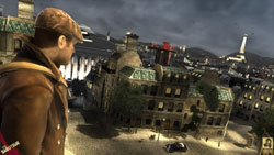 Hero Sean Devlin overlooking Paris in The Saboteur