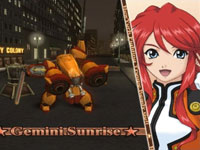 Gemini Sunrise and her mech in Sakura Wars: So Long My Love