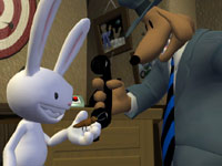 Debugging a phone in Sam & Max: Beyond Time and Space