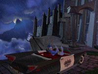 Driving the Desoto on the way to a zombie apocalypse in Sam & Max: Beyond Time and Space