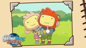 Lilly and Maxwell from Scribblenauts Unlimited