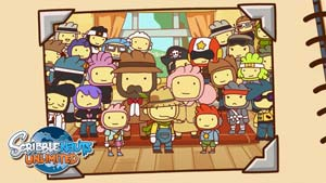 Lilly, Maxwell and all the Scribblenauts Unlimited NPCs