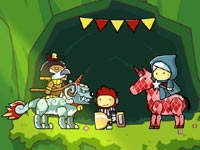 Maxwell judging a competition in Scribblenauts Unlimited
