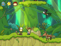 Maxwell and friends in an unique hunting contest in Scribblenauts Unlimited