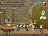 Maxwell going to war in Scribblenauts Unlimited