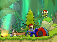 Maxwell's monkey-powered transport in Scribblenauts Unlimited
