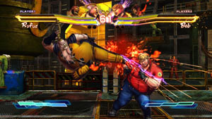 Rufus vs. Bob in Street Fighter X Tekken