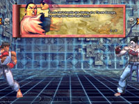 The 'Briefing Room' training mode from Street Fighter X Tekken