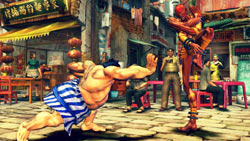 E. Honda and Dhalsim battling in 'Street Fighter IV'