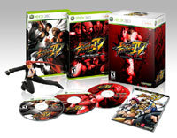 Image of contents of 'Street Fighter IV Collector's Edition' for Xbox 360