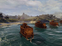 Combined land and sea battles in Shogun 2: Total War